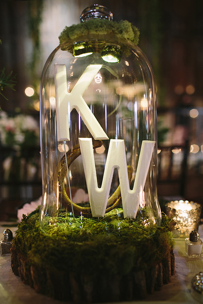 monogram terrarium | Brooke Courtney Photography | Glamour & Grace
