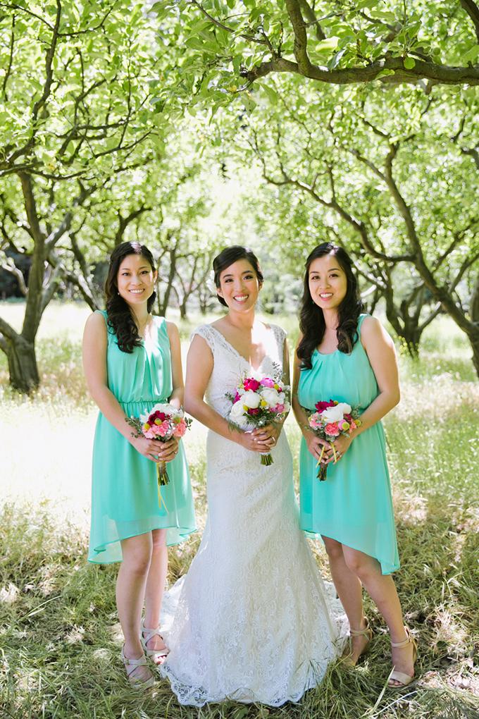 turquoise bridesmaids | Jasmine Lee Photography | Glamour & Grace