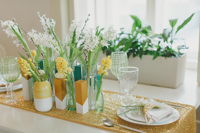 geometric spring vow renewal   Warmphoto   Glamour & Grace