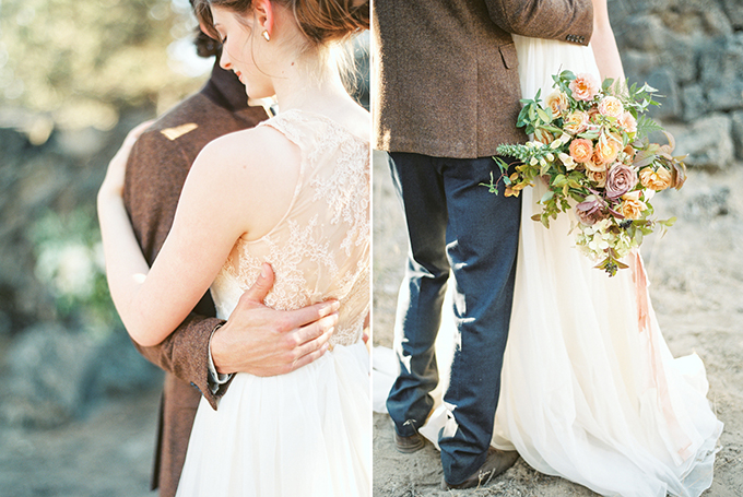 warm fall bridal portraits | Connie Dai Photography | Glamour & Grace
