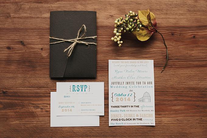 barn wedding invitation   Jessica Connery Photography   Glamour & Grace