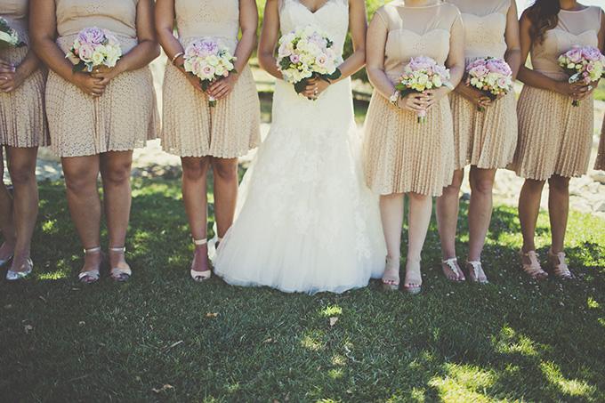 neutral bridesmaids   Sarah Kathleen   Glamour & Grace