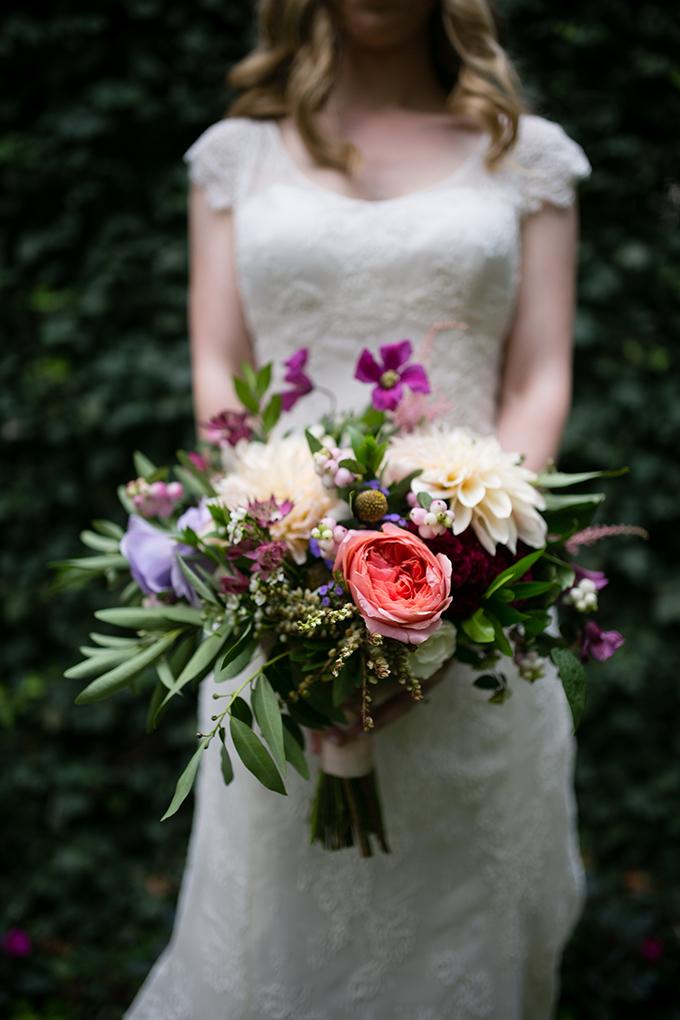 garden bouquet | Peach Plum Pear Photo | Glamour & Grace