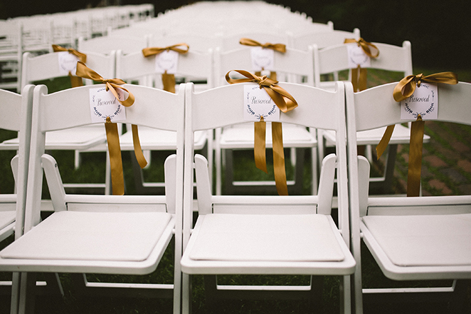 reserved ceremony chairs   Peach Plum Pear Photo   Glamour & Grace