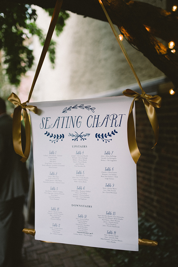 hanging seating chart   Peach Plum Pear Photo   Glamour & Grace