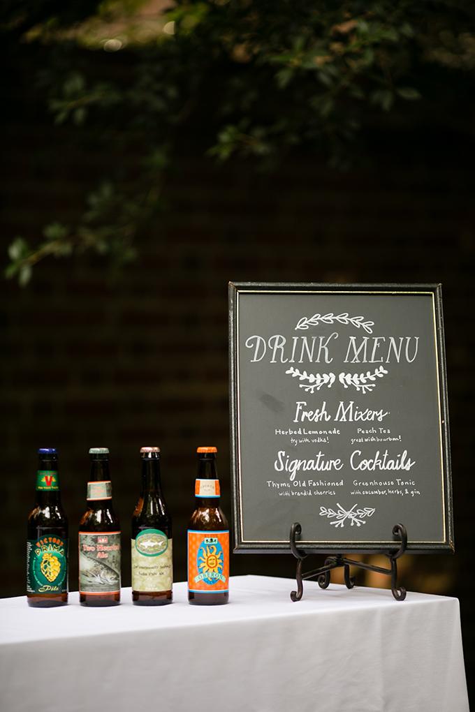 drink menu   Peach Plum Pear Photo   Glamour & Grace