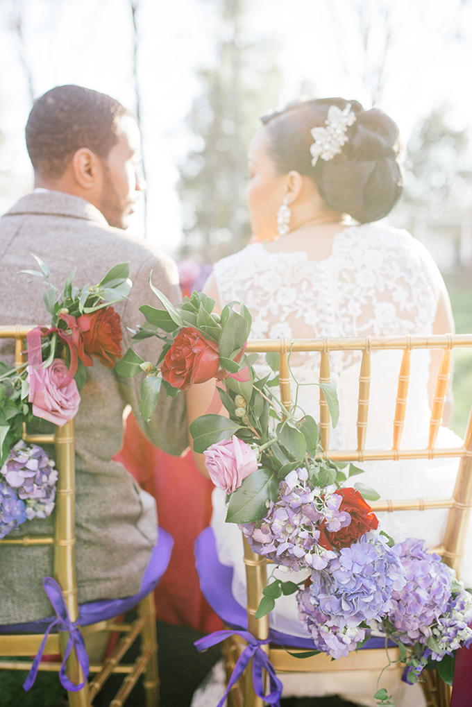 chair garlands | Kimberly Florence | Glamour & Grace