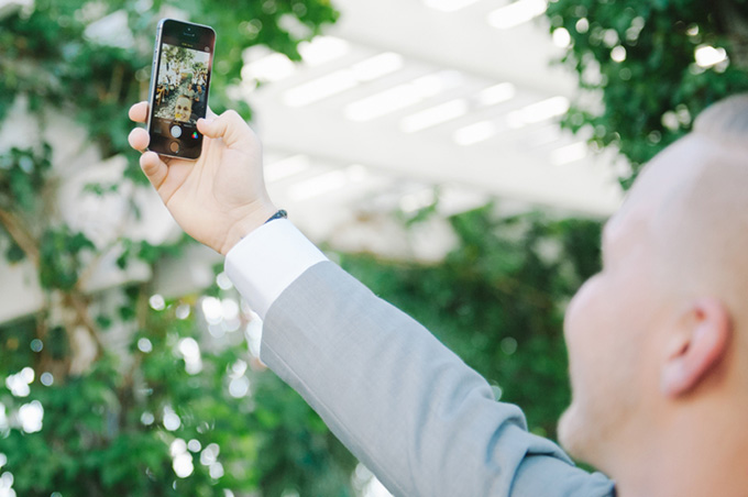 groom pre-ceremony selfie | Shea Christine Photography | Glamour & Grace