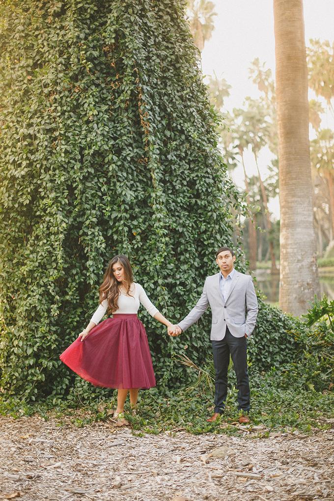 whimsical garden engagement | Kristen Booth | Glamour & Grace