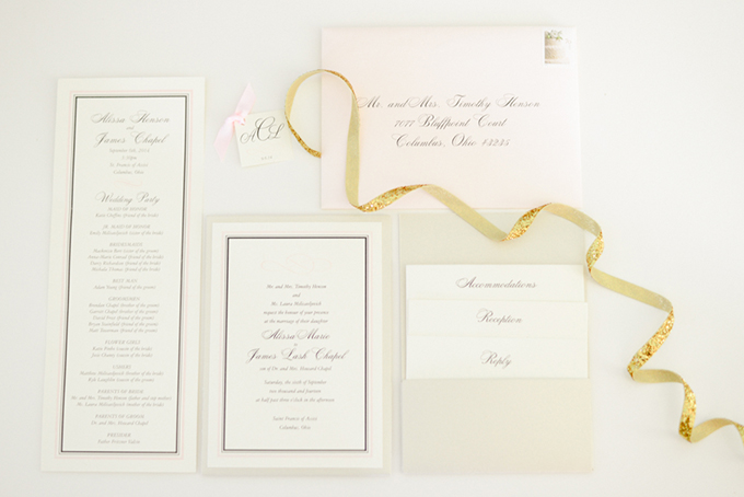classic white invitation | Henry Photography | Glamour & Grace