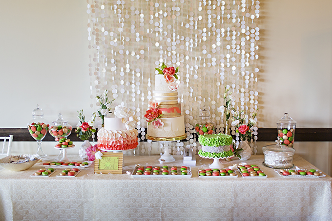 colorful dessert table | Courtney Bowlden Photography | Glamour & Grace