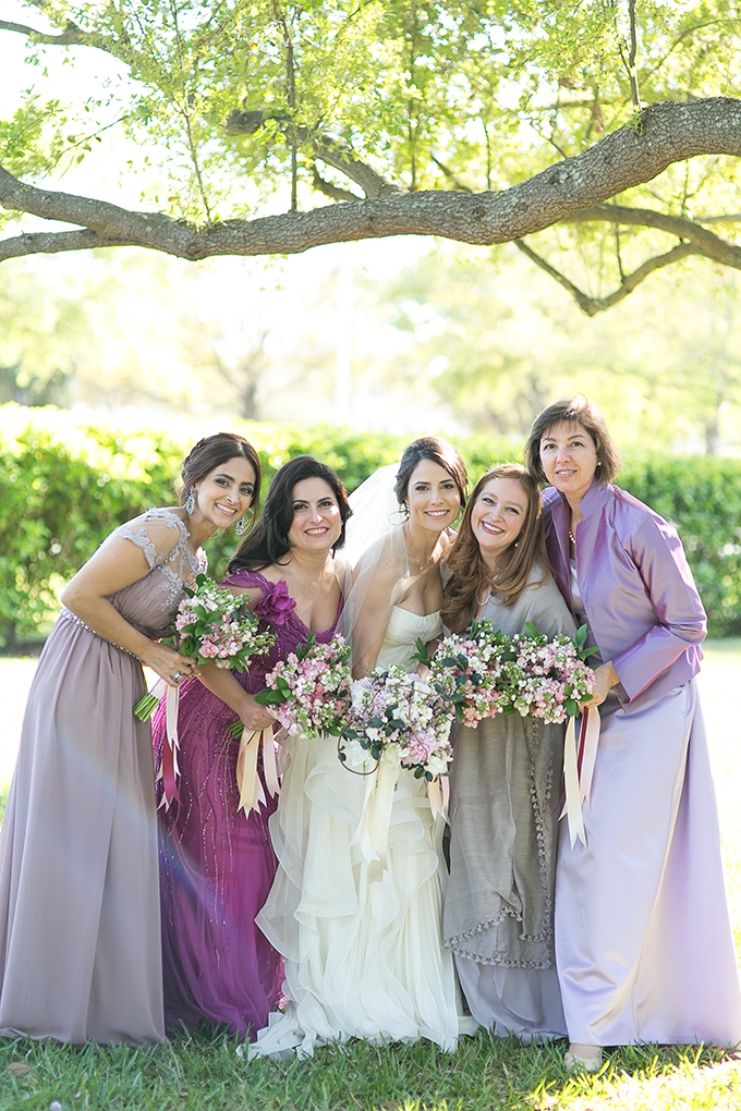 purple and gray bridesmaids | Roohi Photography | Glamour & Grace