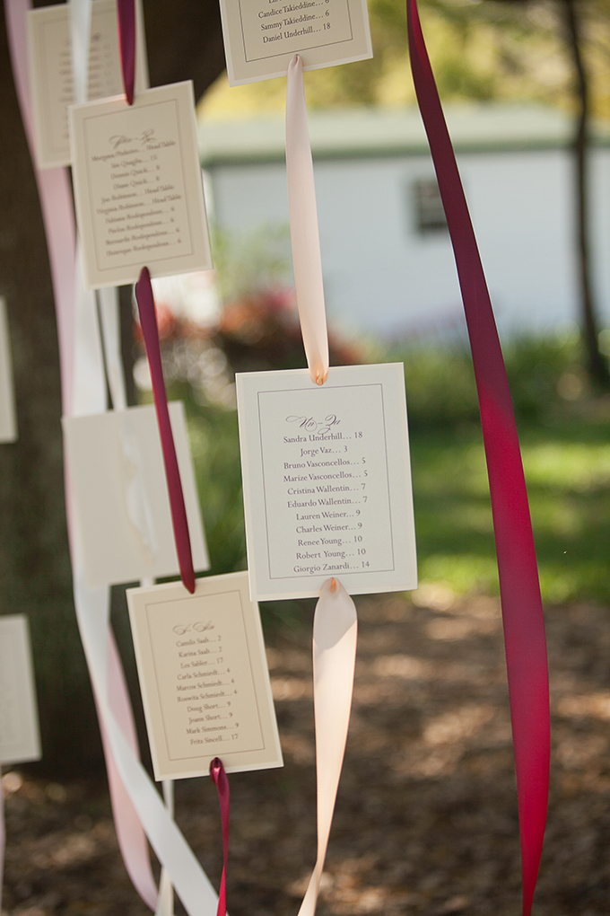 hanging ribbon escort chart | Roohi Photography | Glamour & Grace