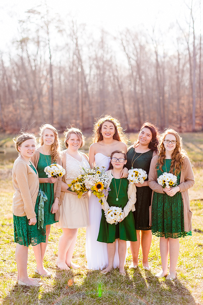 emerald bridesmaids | Heather Chipps Photography | Glamour & Grace