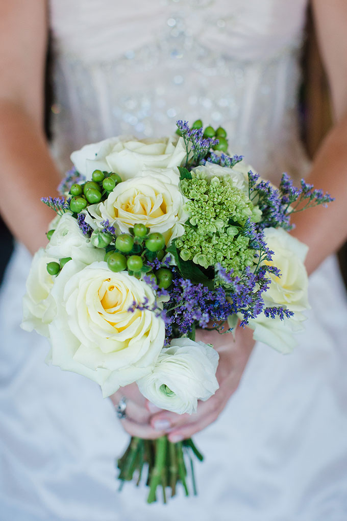 green and blue bouquet | Robyn Blasi Photography | Glamour & Grace