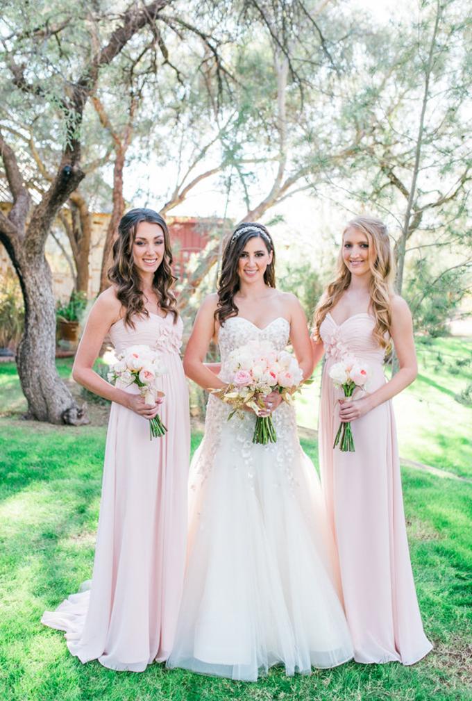 blush bridesmaids   Leslie D Photography   Glamour & Grace
