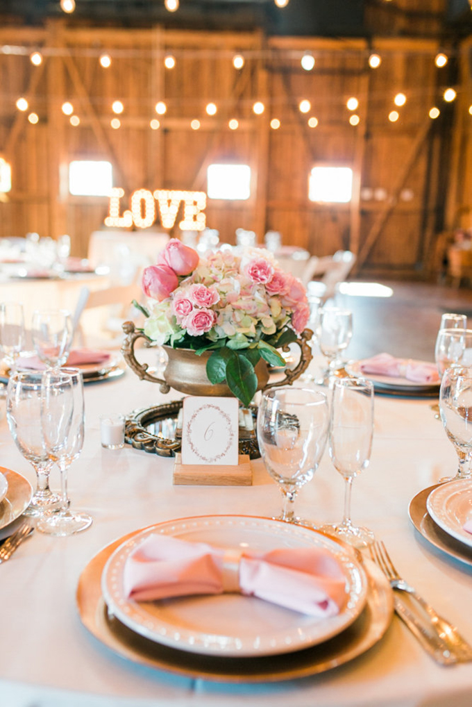 blush and gold barn wedding   Leslie D Photography   Glamour & Grace