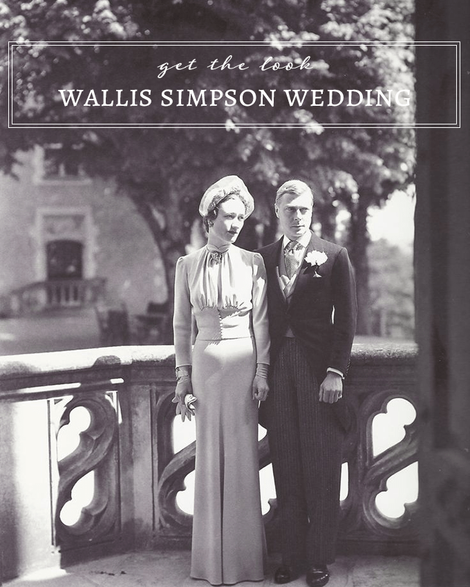 get Wallis Simpson's wedding day look