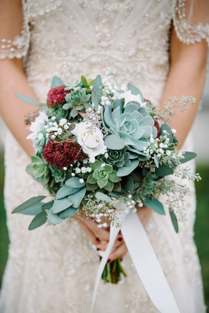 succulent bouquet | Lauren Love Photography | Glamour & Grace