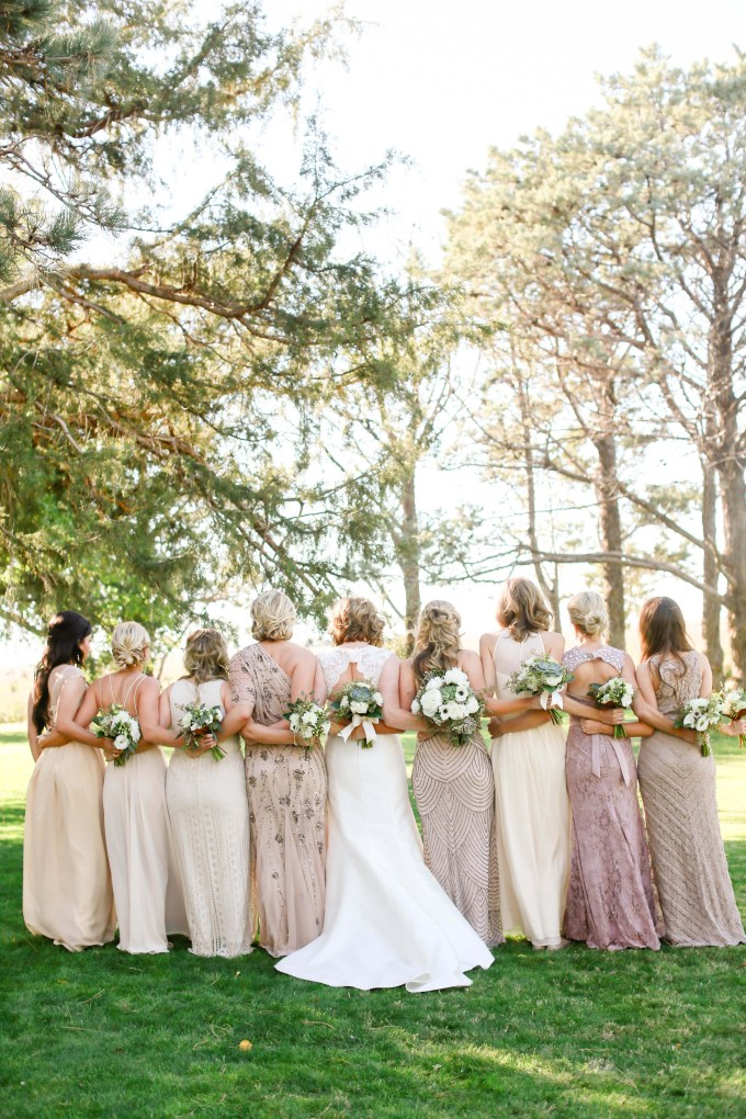 neutral bridesmaids | Allee J. | Glamour & Grace
