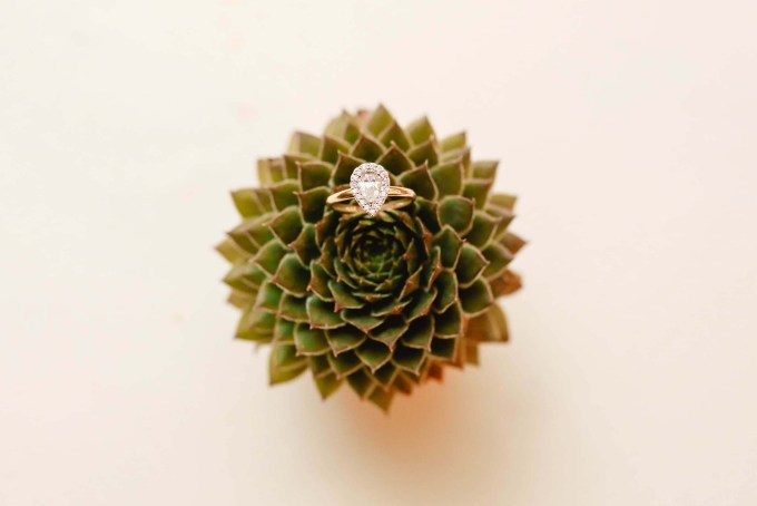 pear engagement ring | Allee J. | Glamour & Grace