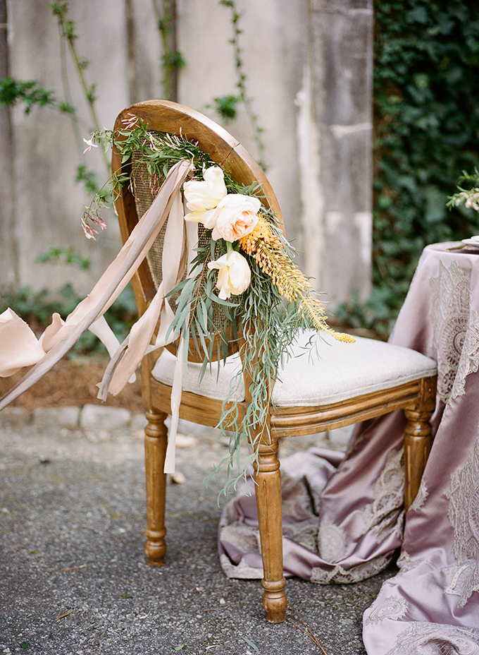 romantic chair florals | Archetype | Glamour & Grace