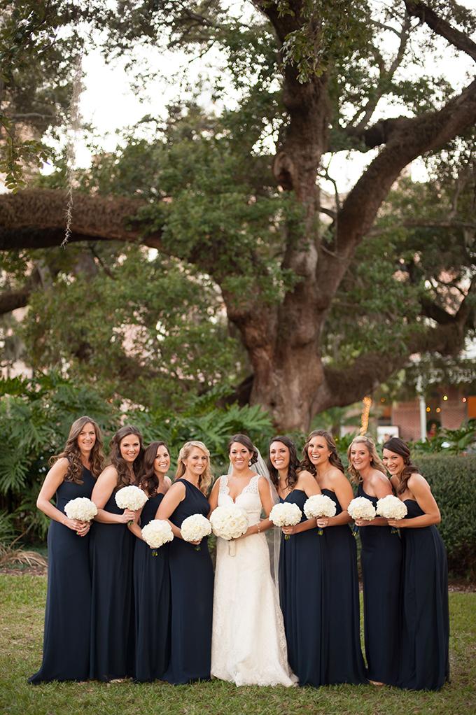 navy bridesmaids | Stephanie A Smith Photography | Glamour & Grace
