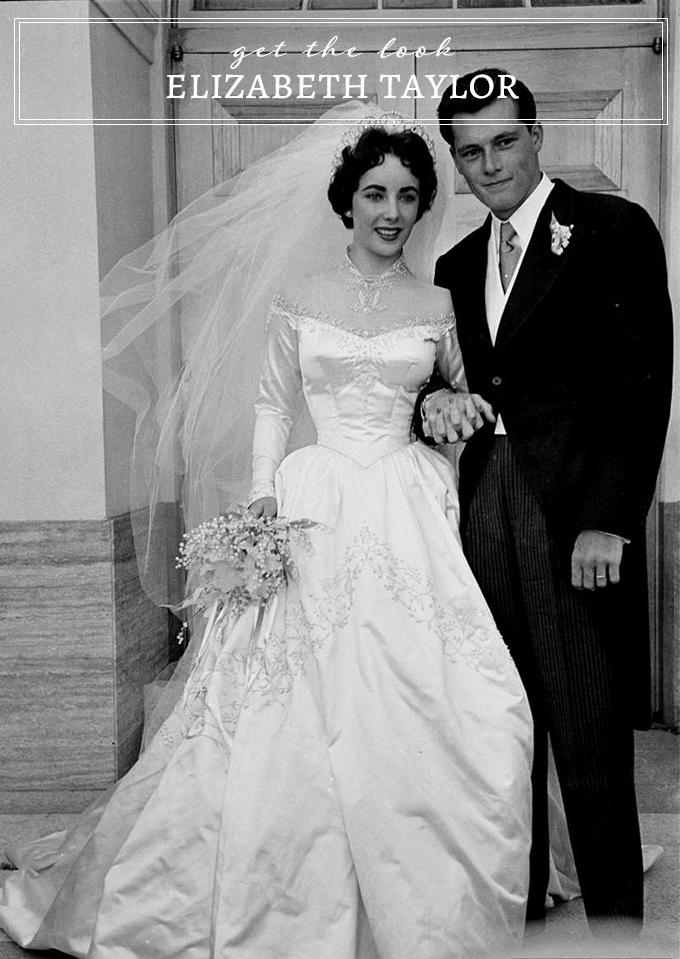 get Elizabeth Taylor's wedding look