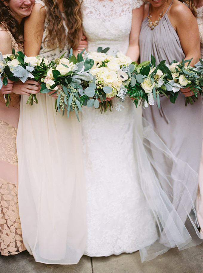 neutral bridesmaids | JoPhoto | Glamour & Grace