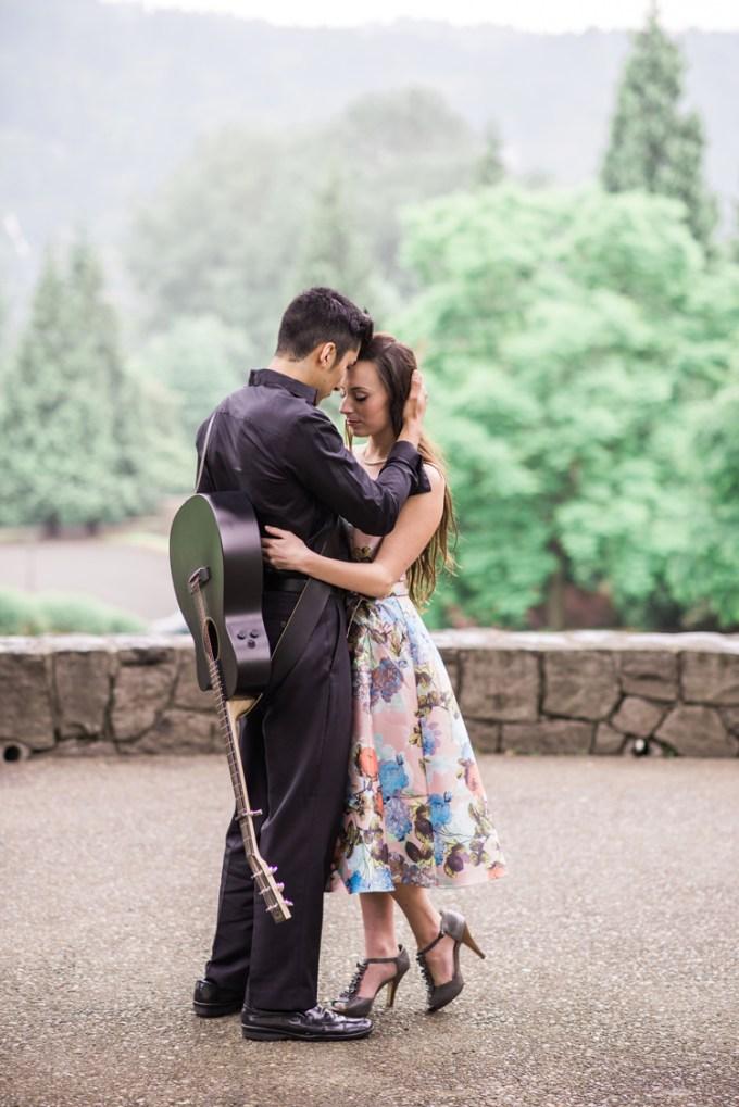 Johnny Cash inspired engagement | White Ivory Photography | Glamour & Grace