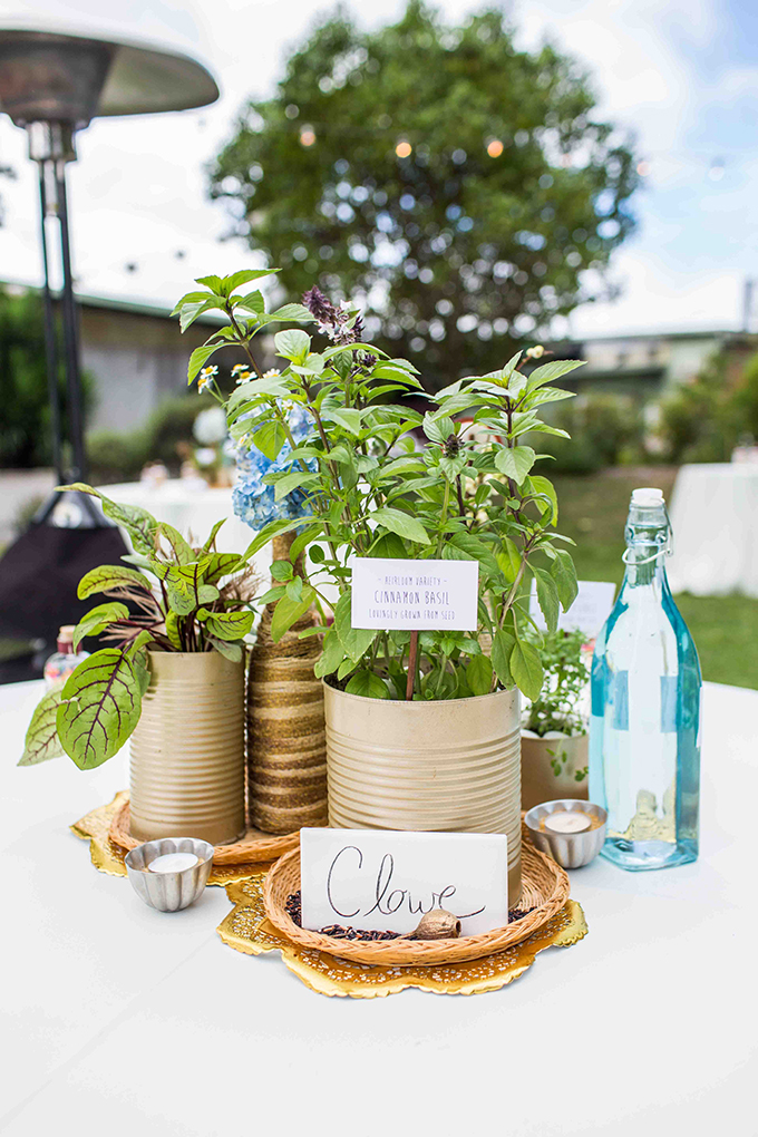 handmade rustic centerpiece | Blueberry Photography | Glamour & Grace