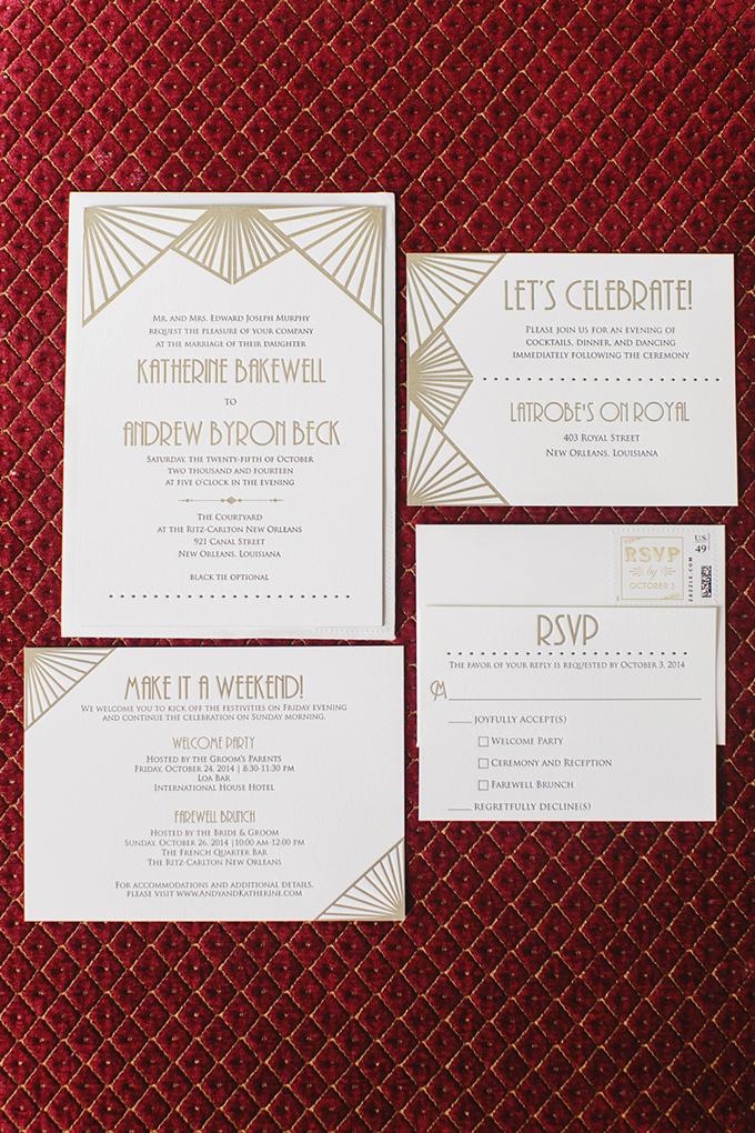 art deco wedding invitation | Greer G Photography | Glamour & Grace