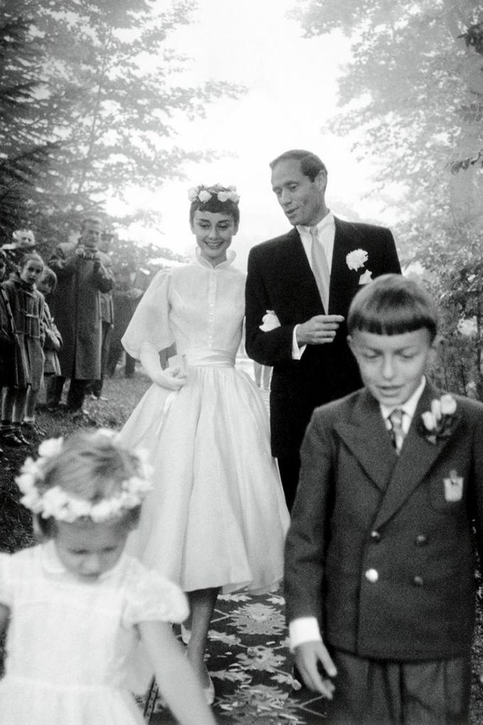 Audrey Hepburn wedding