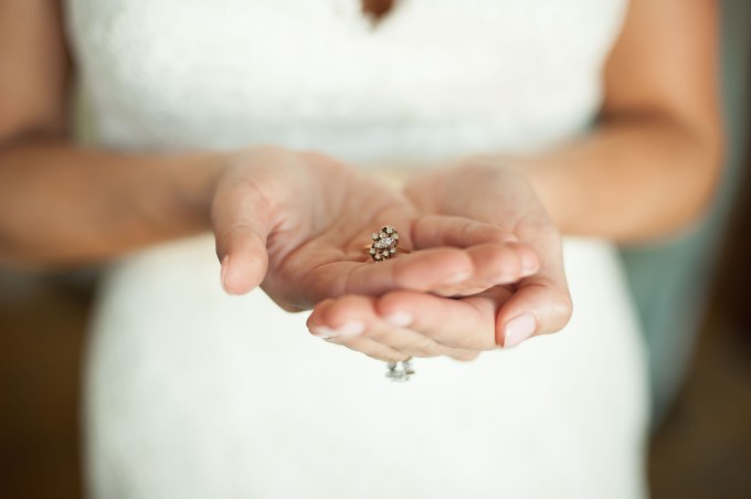 bride with grandmother's ring | Stephanie A Smith