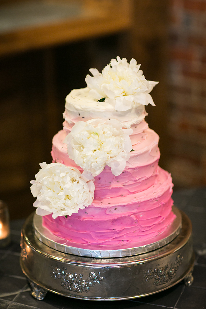 pink ombre cake | melissa maureen photography | Glamour & Grace