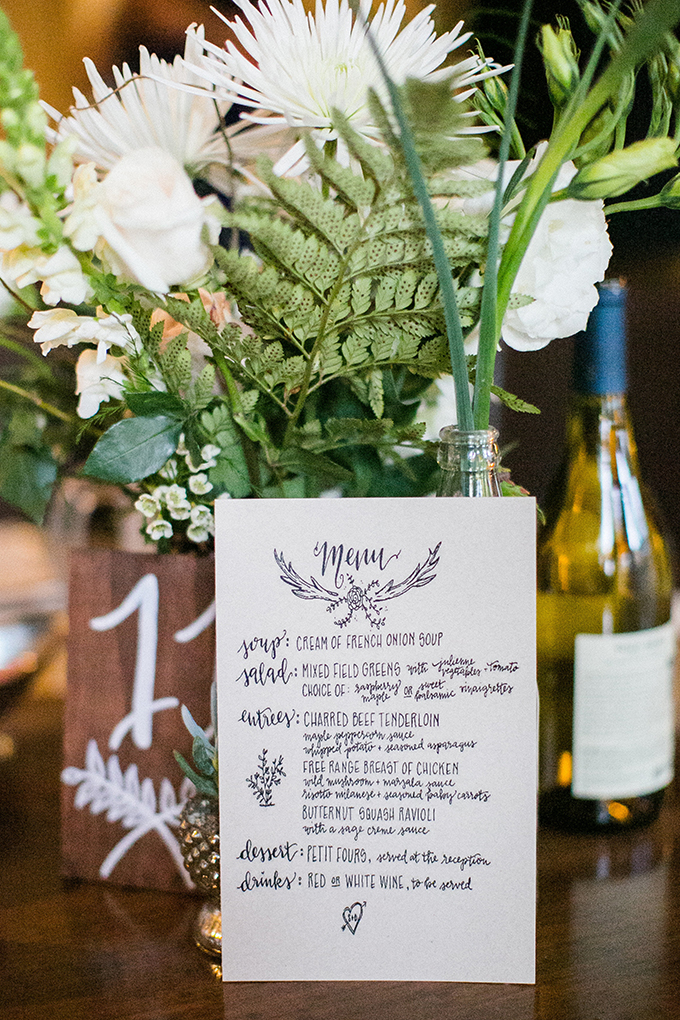 calligraphy menu   Anna Marks Photography   Glamour & Grace