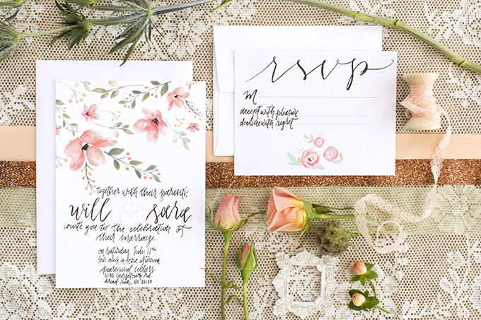 floral invitation | Lieb Photographic | Glamour & Grace