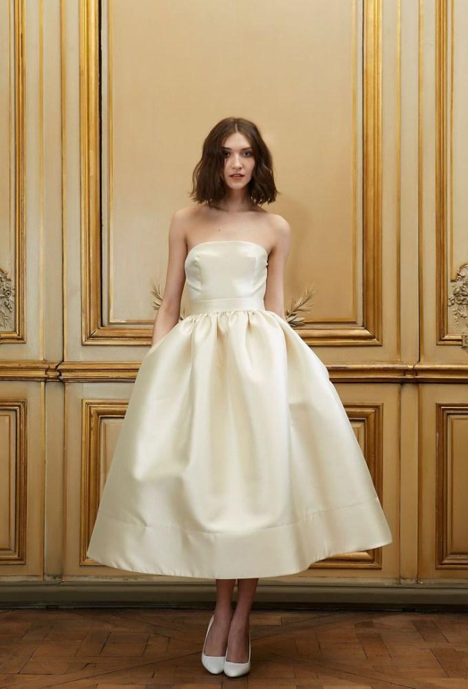 tea length wedding dress | Delphine Manivet