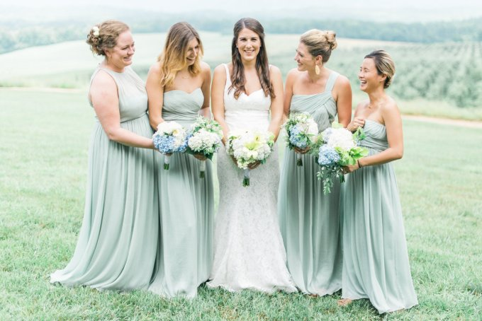 seafoam bridesmaids | Kathryn Ivy Photography | Glamour & Grace