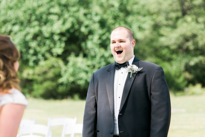 groom's first look reaction | Amy Nicole Photography | Glamour & Grace