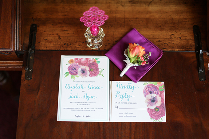 floral invitation | Shelley Dee Photography | Glamour & Grace