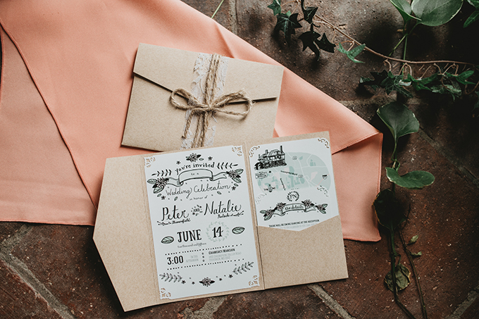 DIY invitations | L.A. Birdie Photography | Glamour & Grace