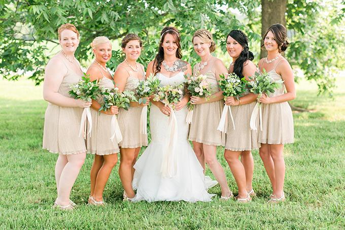 romantic DIY farm wedding | Kirstyn Marie Photography | Glamour & Grace