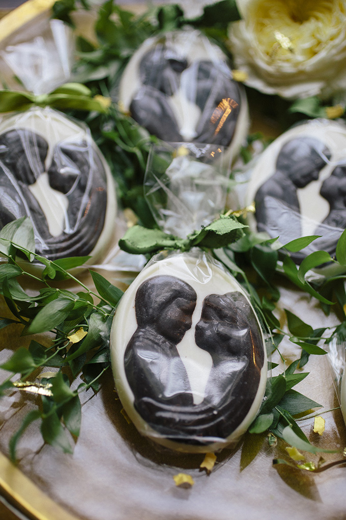 chocolate favors | Kate Preftakes Photography | Glamour & Grace