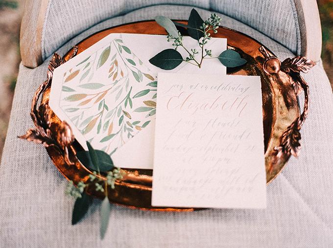 calligraphy invitation | Nikki Santerre | Glamour & Grace