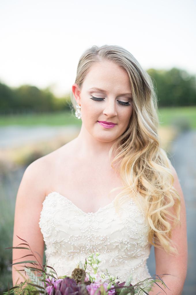 lavender field bridal portraits | Samantha Laffoon Photography | Glamour & Grace