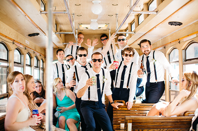 wedding trolley | Perregeaux Wedding Photography | Glamour & Grace