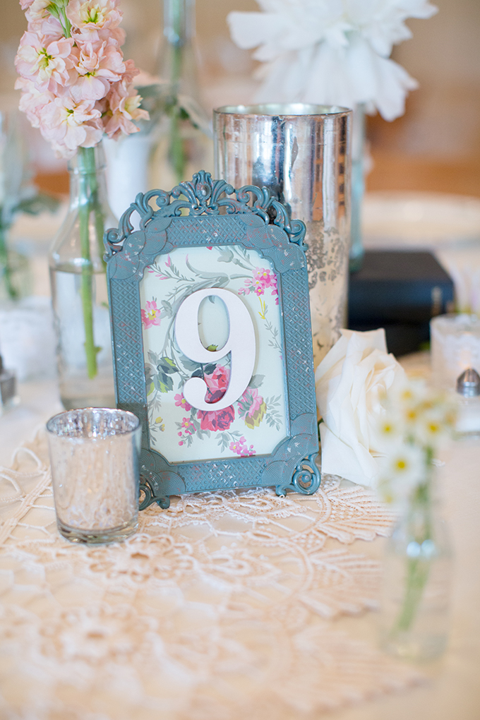 vintage table numbers | Samantha Laffoon Photography | Glamour & Grace