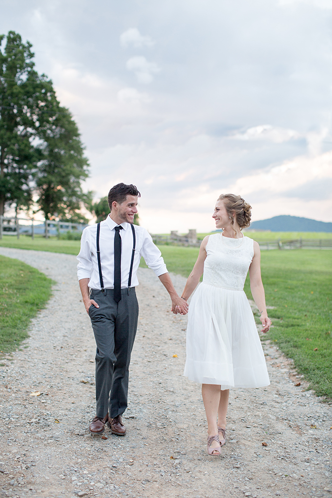 wearing grandmother's dress for the reception | Samantha Laffoon Photography | Glamour & Grace