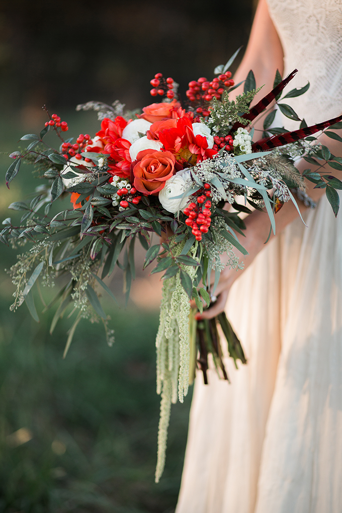 red bouquet | Lindsey Zovko Photography | Glamour & Grace